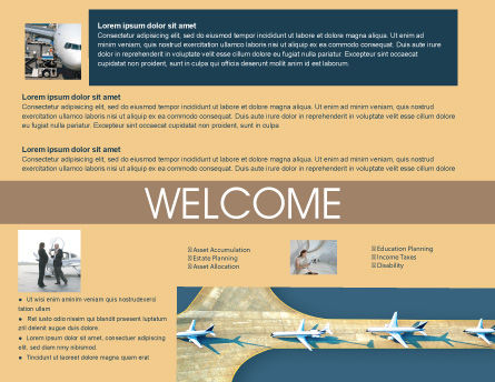 Airport Brochure Template, Inner Page, 02212, Cars/Transportation — PoweredTemplate.com