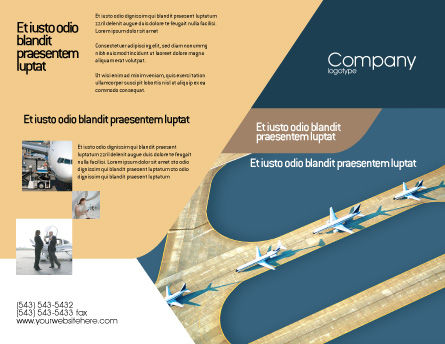 Airport Brochure Template, Outer Page, 02212, Cars/Transportation — PoweredTemplate.com