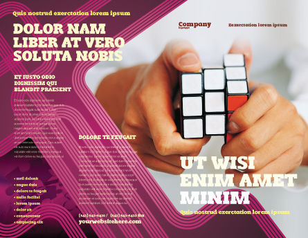 Puzzle Rubik's Cube Brochure Template Outer Page