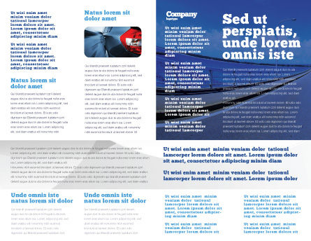 Highway In A Blue Distance Brochure Template, Inner Page, 02214, Construction — PoweredTemplate.com