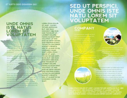 Flora Brochure Template, Inner Page, 02215, Nature & Environment — PoweredTemplate.com