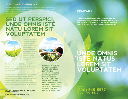 Flora Brochure Template, Outer Page, 02215, Nature & Environment — PoweredTemplate.com