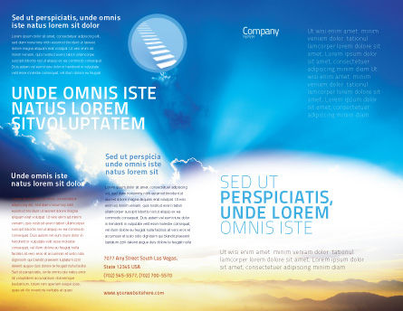 Blue Sky With Sunbeams Brochure Template, Outer Page, 02216, Religious/Spiritual — PoweredTemplate.com