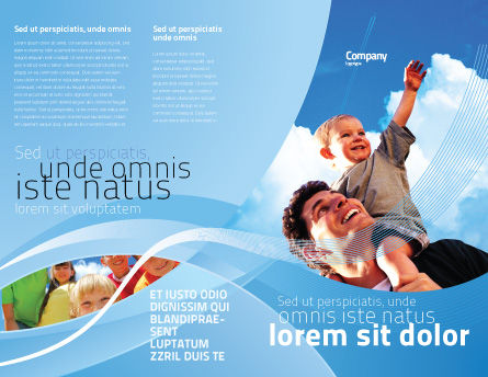 Father and Son Brochure Template Outer Page