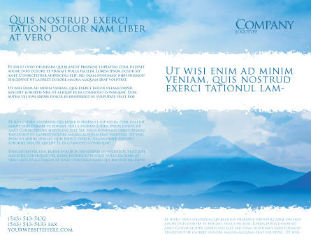 Fujiyama Brochure Template, Outer Page, 02226, Nature & Environment — PoweredTemplate.com