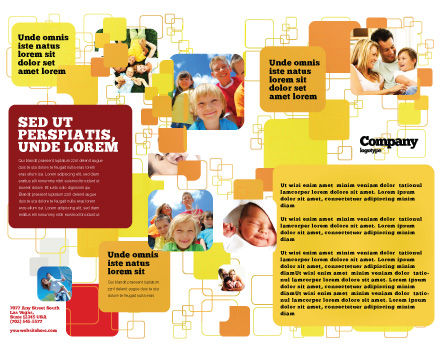 Paternal Care Brochure Template, Inner Page, 02232, People — PoweredTemplate.com