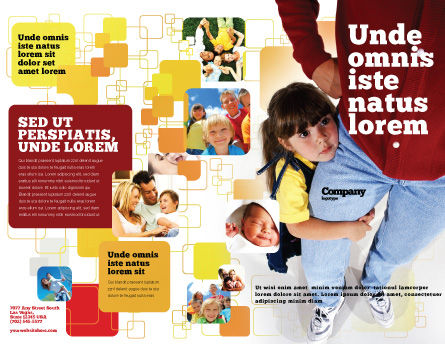 Paternal Care Brochure Template, Outer Page, 02232, People — PoweredTemplate.com