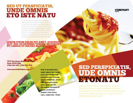 Italian Food Brochure Template, Outer Page, 02244, Food & Beverage — PoweredTemplate.com