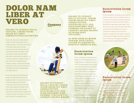 Cricket Field Brochure Template Inner Page