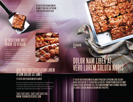 Pie In Baking Tray Brochure Template, Outer Page, 02256, Food & Beverage — PoweredTemplate.com