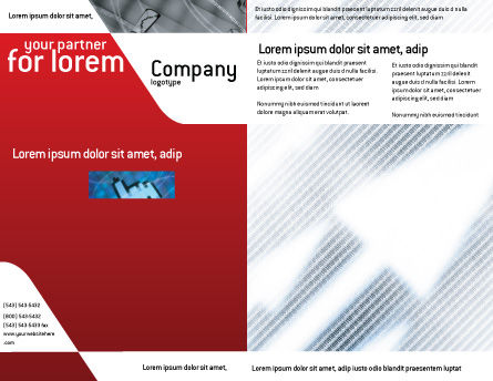 Abstract Pointers On Grid Surface Brochure Template, Outer Page, 02264, Technology, Science & Computers — PoweredTemplate.com