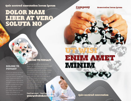 Creation Of Fullerene Molecule Model Brochure Template, Outer Page, 02267, Technology, Science & Computers — PoweredTemplate.com