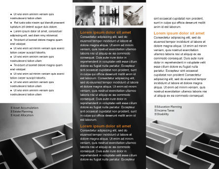 Gray Labyrinth Brochure Template, Inner Page, 02270, Business Concepts — PoweredTemplate.com