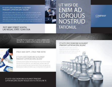 Chess Troops Ready To Fight Brochure Template, Outer Page, 02273, Business — PoweredTemplate.com