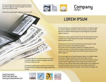 Dollars Brochure Template Outer Page