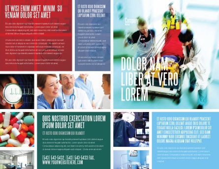 Reanimation Brochure Template, Outer Page, 02288, Medical — PoweredTemplate.com