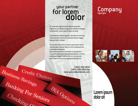 Savings and Credits Brochure Template, Outer Page, 02289, Business Concepts — PoweredTemplate.com