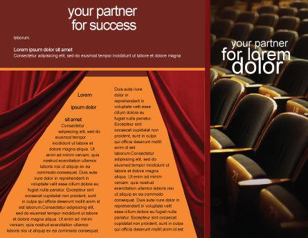 Cinema Hall Brochure Template, Inner Page, 02291, Art & Entertainment — PoweredTemplate.com