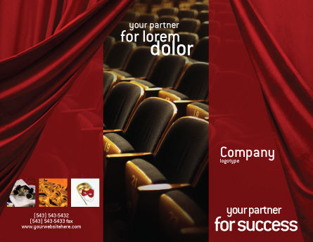 Cinema Hall Brochure Template, Outer Page, 02291, Art & Entertainment — PoweredTemplate.com