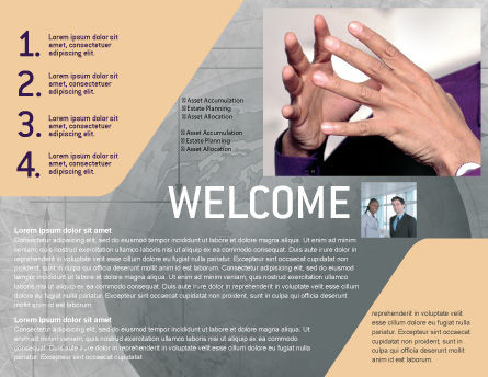 Hands Brochure Template Inner Page