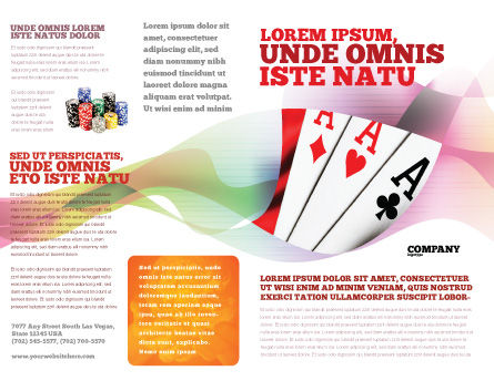 Playing Cards Brochure Template Outer Page