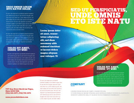 Umbrella on the Beach Brochure Template Outer Page