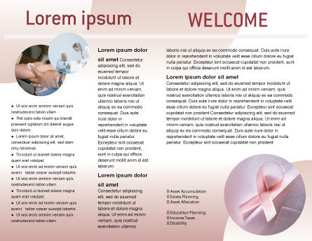 Breast Cancer Awareness Brochure Template, Inner Page, 02302, Religious/Spiritual — PoweredTemplate.com