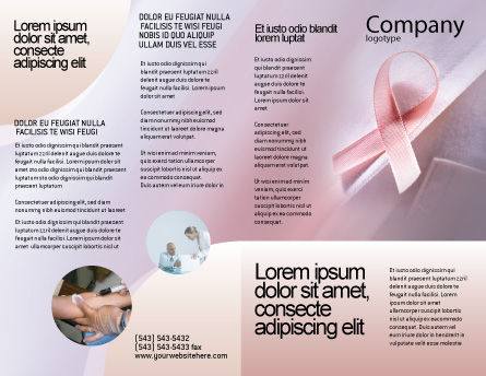 Breast Cancer Awareness Brochure Template, Outer Page, 02302, Religious/Spiritual — PoweredTemplate.com