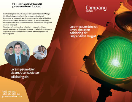 Light Signal Brochure Template, Outer Page, 02304, Business Concepts — PoweredTemplate.com