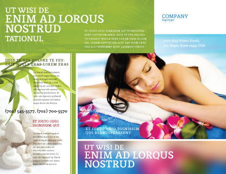 Spa Brochure Template, Outer Page, 02307, Holiday/Special Occasion — PoweredTemplate.com