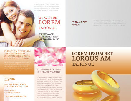 Wedding Rings Brochure Template, Outer Page, 02309, Holiday/Special Occasion — PoweredTemplate.com