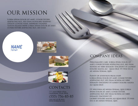 Dinner Brochure Template Outer Page
