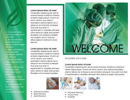 Scrub Nurse Brochure Template, Inner Page, 02313, Medical — PoweredTemplate.com