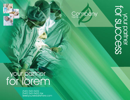 Scrub Nurse Brochure Template Outer Page