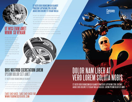 Biker Brochure Template Outer Page