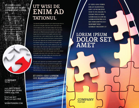 Game Puzzle Brochure Template, Outer Page, 02317, Consulting — PoweredTemplate.com