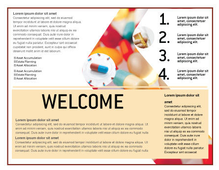 Pills In Collage Brochure Template Inner Page