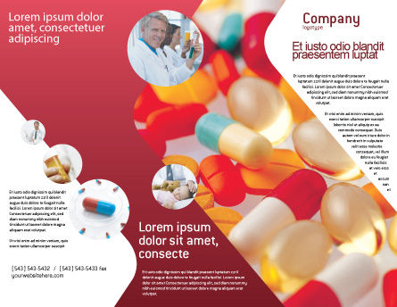 Pills In Collage Brochure Template Outer Page