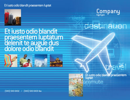 Airways Brochure Template Outer Page