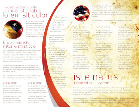 USA Flag Brochure Template, Inner Page, 02329, Flags/International — PoweredTemplate.com