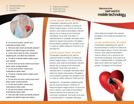 Key To Heart Brochure Template Inner Page