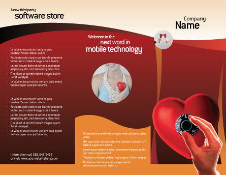 Key To Heart Brochure Template Outer Page