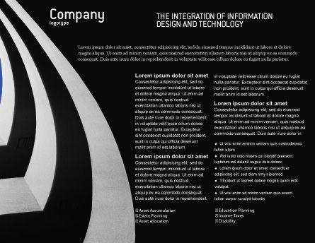 Modern Building Brochure Template, Inner Page, 02335, Construction — PoweredTemplate.com