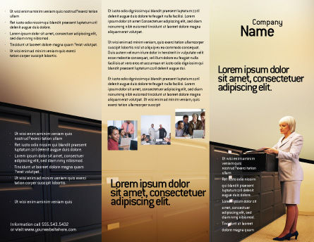 Archive Brochure Template, Outer Page, 02341, Business — PoweredTemplate.com