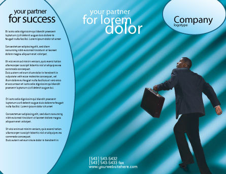 Career Climbing Brochure Template Outer Page