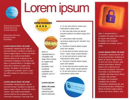 Site Security Brochure Template Inner Page