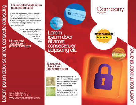 Site Security Brochure Template, Outer Page, 02352, Technology, Science & Computers — PoweredTemplate.com