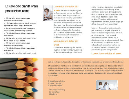 Color Pencil Brochure Template, Inner Page, 02353, Business Concepts — PoweredTemplate.com