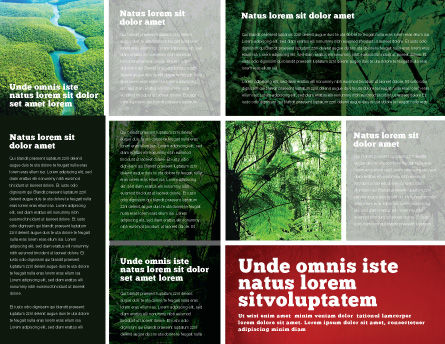 Tropical Forest Brochure Template, Inner Page, 02355, Nature & Environment — PoweredTemplate.com