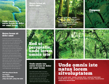Tropical Forest Brochure Template, Outer Page, 02355, Nature & Environment — PoweredTemplate.com